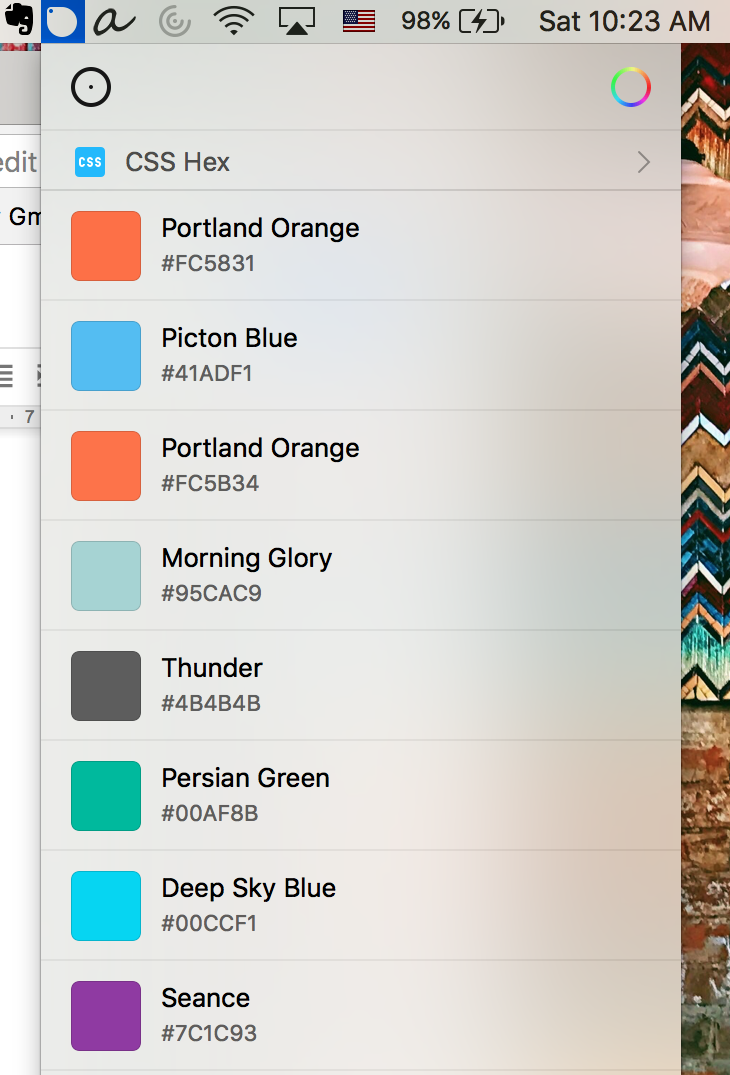 tools I love sip list of colors Ive recently used