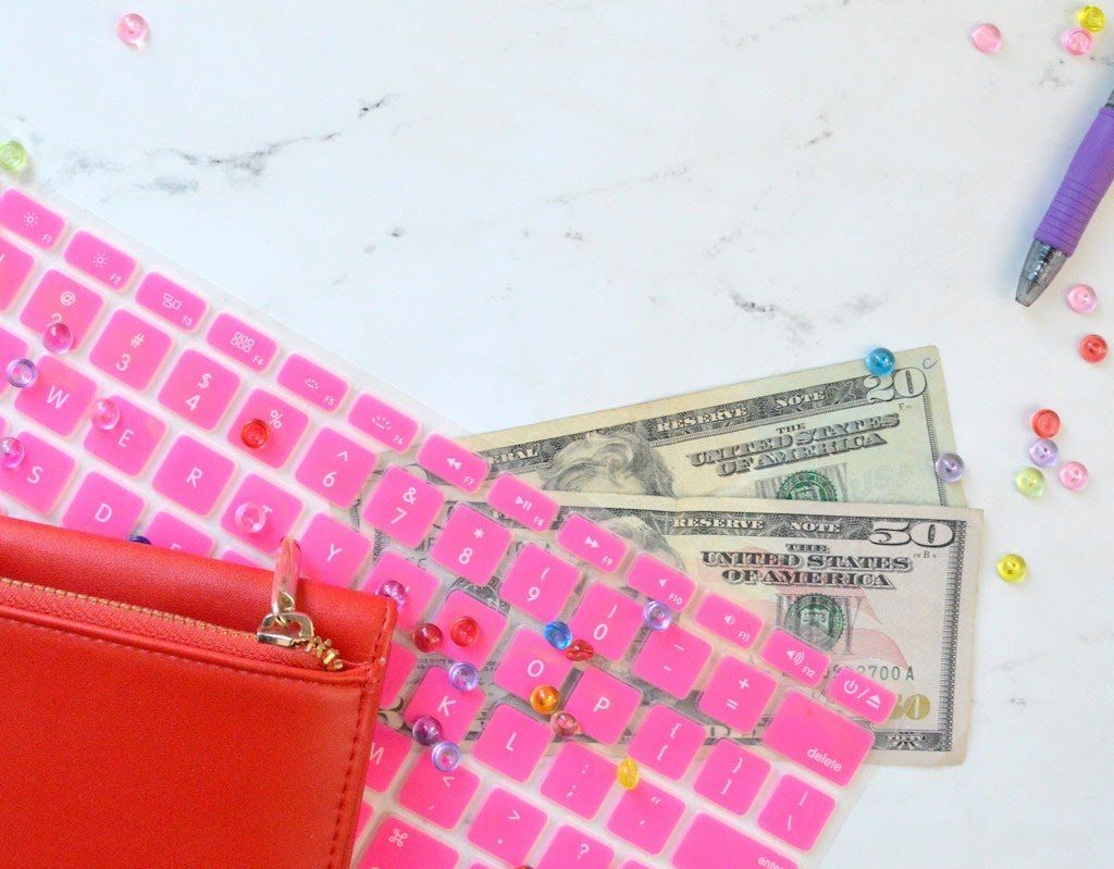 freelancing is cheap to start keyboard with money