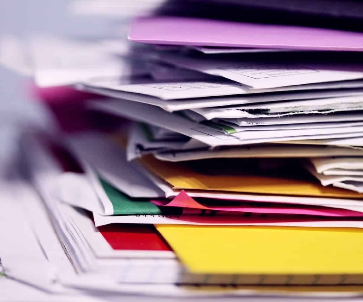 stack of papers freelance work